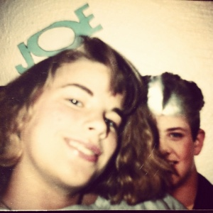 Who's the dork posing with her Joe McIntyre poster?  Why, that would be me (age 14)!